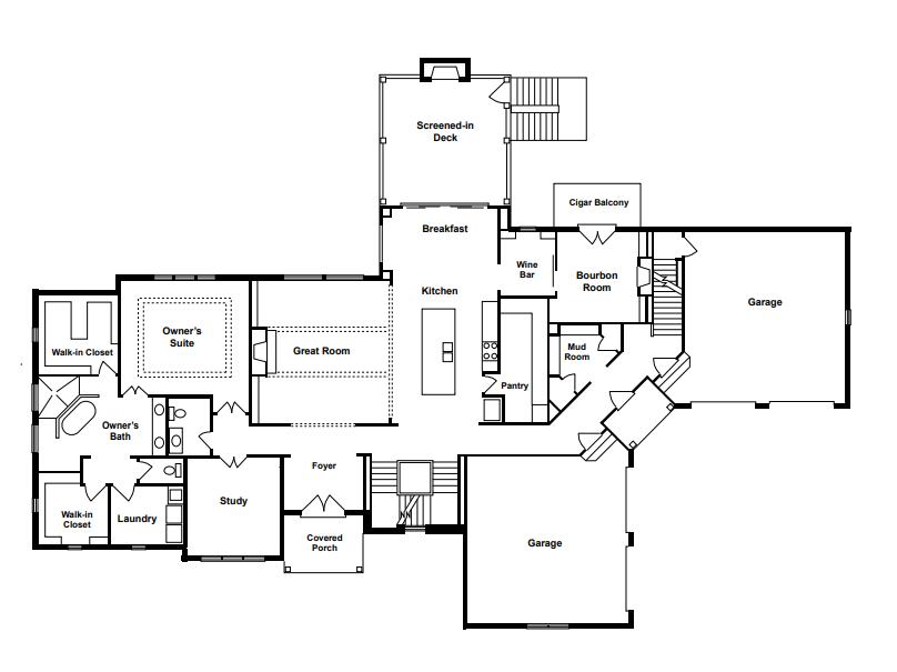 La Bella Vita First Floor Plan