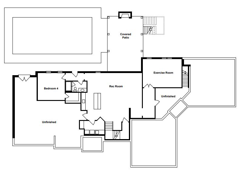 La Bella Vita Lower Level Floor Plan
